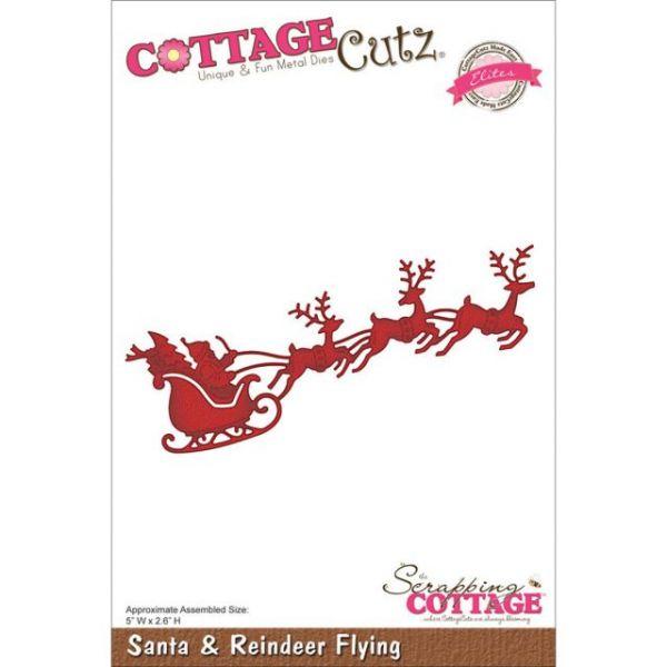 CottageCutz Elites Santa & Reindeer Flying Die