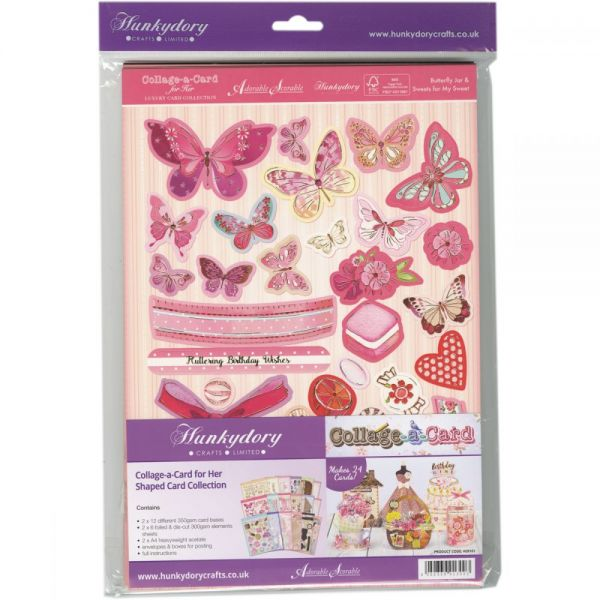 Hunkydory For Her Collage-A-Card Shaped A4 Card Collection