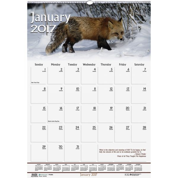 House of Doolittle Wildlife/Inspirational Monthly Wall Calendar