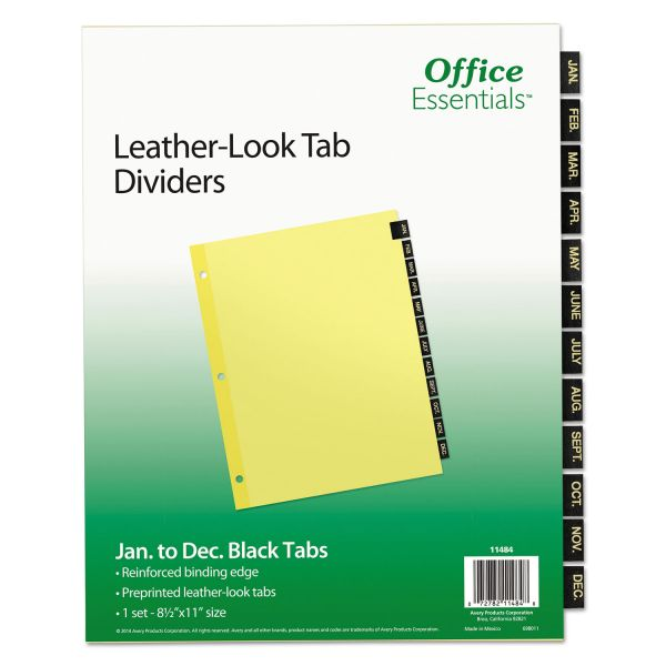 Office Essentials Monthly Tab Index Dividers