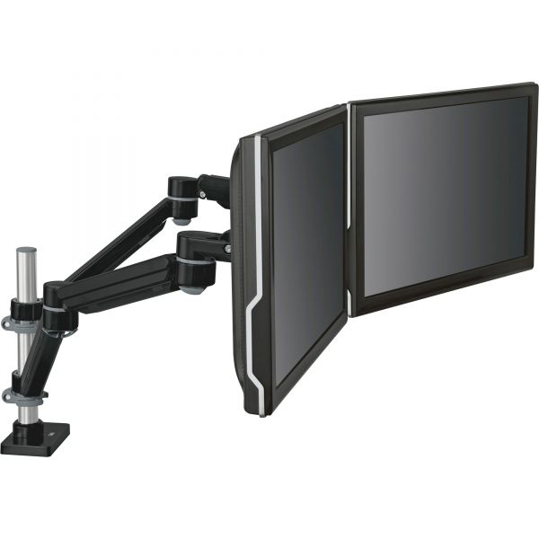 3M Easy-Adjust Dual Monitor Arm, 4 1/2 x 25 1/2, Black/Gray