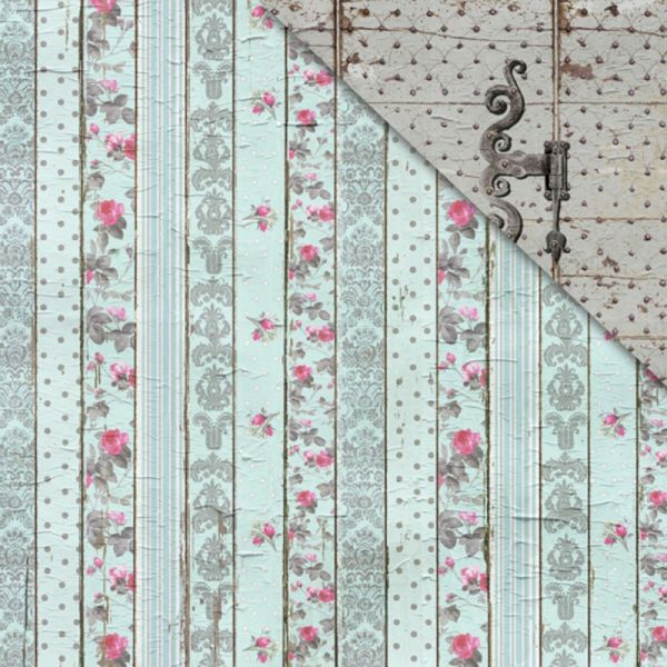 "Shabby Rose Double-Sided Cardstock 12""X12"""