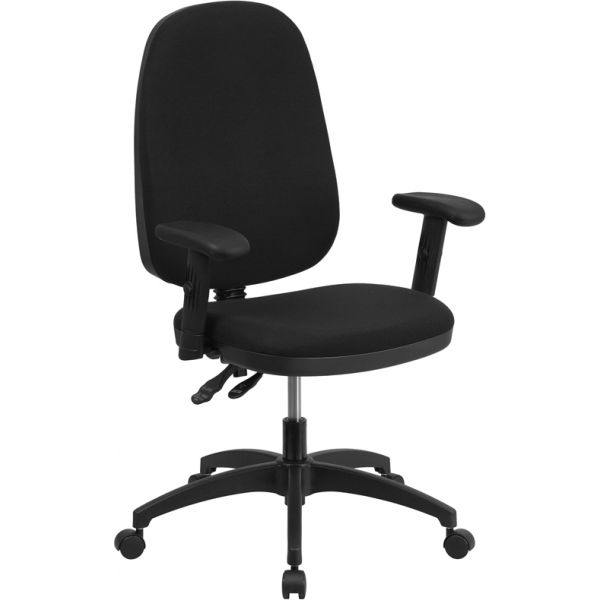 Flash Furniture High Back Multi-Functional Task Chair with Height Adjustable Arms