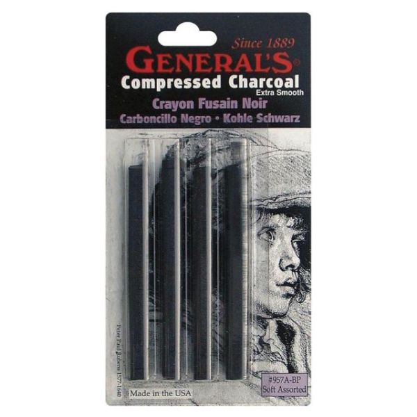 Compressed Charcoal Sticks 4/Pkg