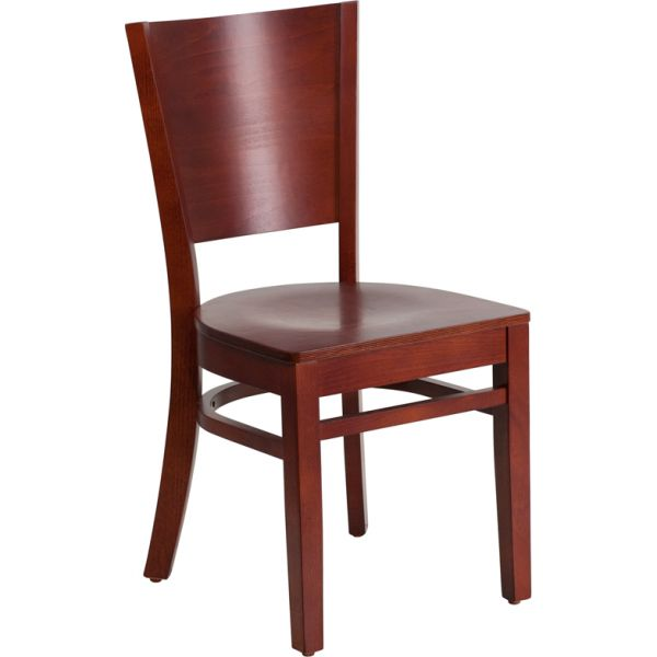 Flash Furniture Solid Back Wooden Restaurant Chair