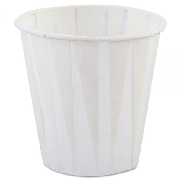 Genpak Paper Drinking Cups, 3.5oz, White, 2500/Carton