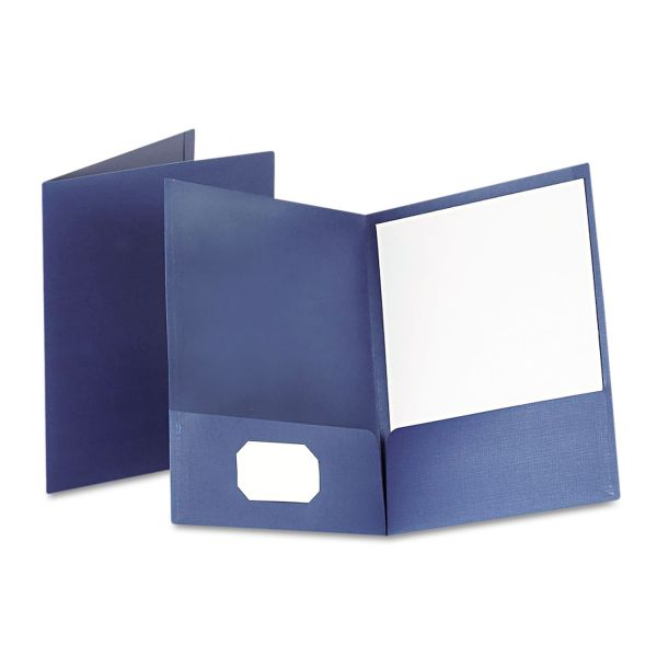Oxford Blue Two Pocket Folders