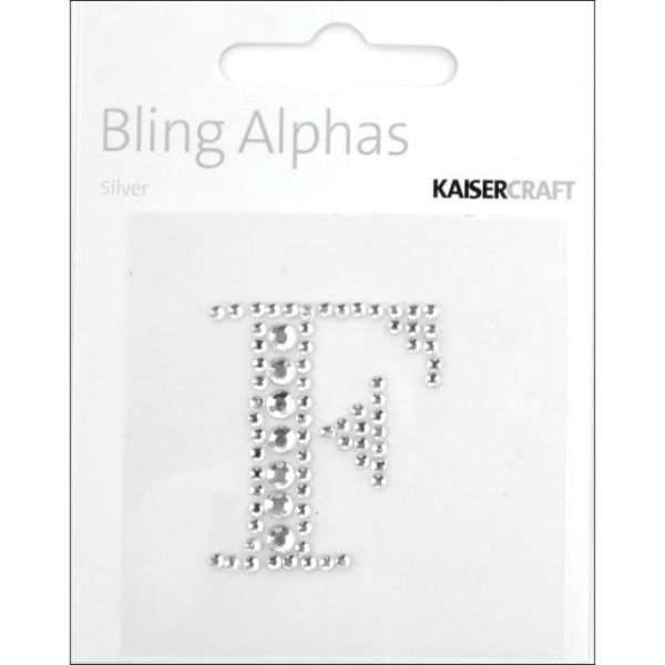 Bling Alphas Self-Adhesive Rhinestone Letters 1.375""