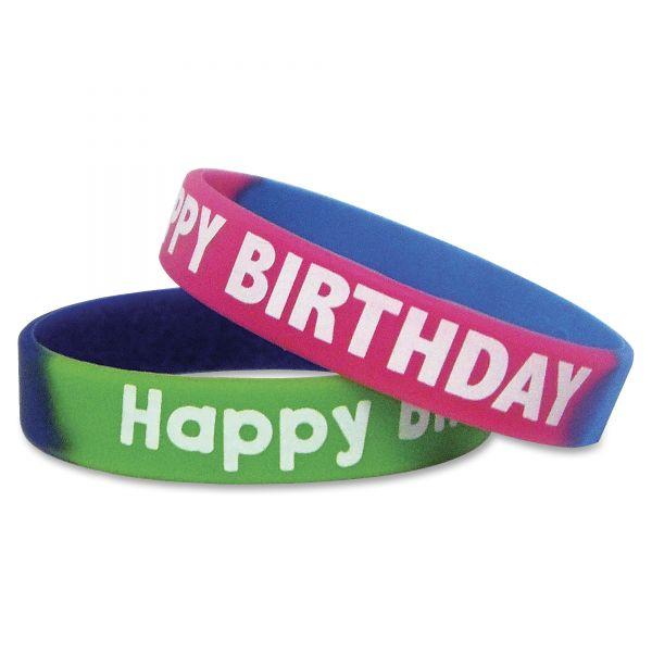 """Fancy """"Happy Birthday"""" Wristbands"""