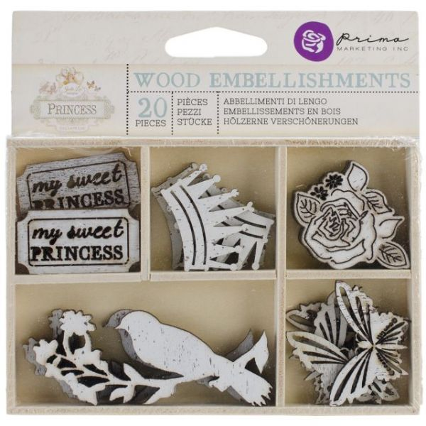 Princess Laser Cut Wood Icons In A Box 20 Pieces