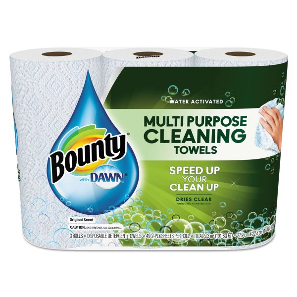 Bounty Paper Towels with Dawn, 2-Ply, 11 x 9, 49/Roll, 24/Carton