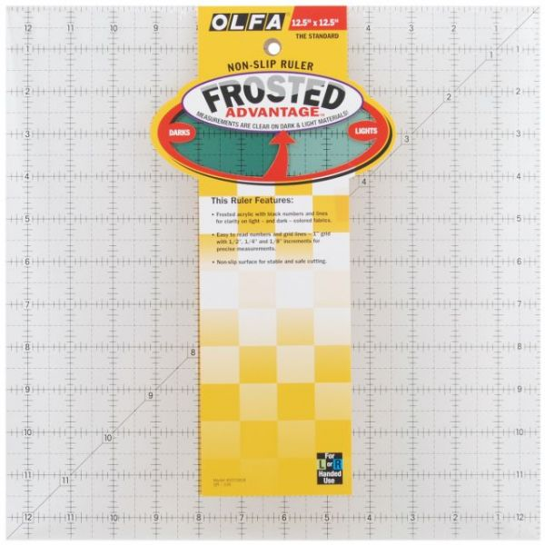 "OLFA Frosted Advantage Non-Slip Ruler ""The Standard"""