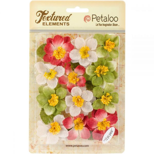 "Textured Elements Briar Rose Canvas 2"" 12/Pkg"