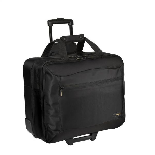 Targus Rolling Travel Notebook Case, Nylon, 18 x 10 x 15, Black