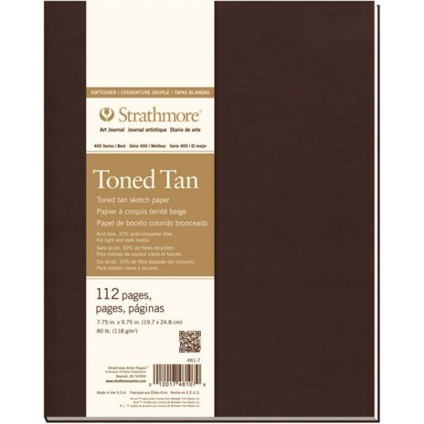 "Strathmore Toned Sketch Softcover Journal 7.75""X9.75"""