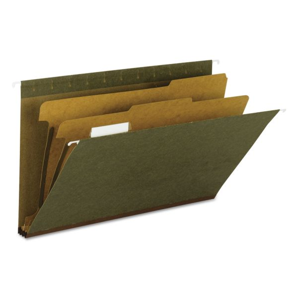 Smead 65160 Standard Green 100% Recycled Hanging Classification Folder with Tab