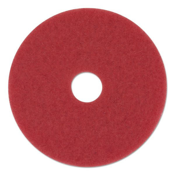 "Boardwalk Standard Floor Pads, 13"" Diameter, Red, 5/Carton"