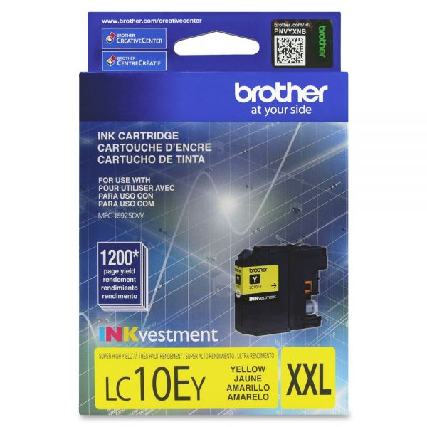 Brother LC10EY Super High Yield Yellow Ink Cartridge