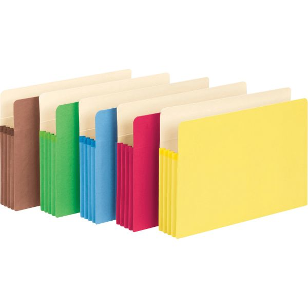 Smead TUFF Pocket Colored Expanding File Pockets