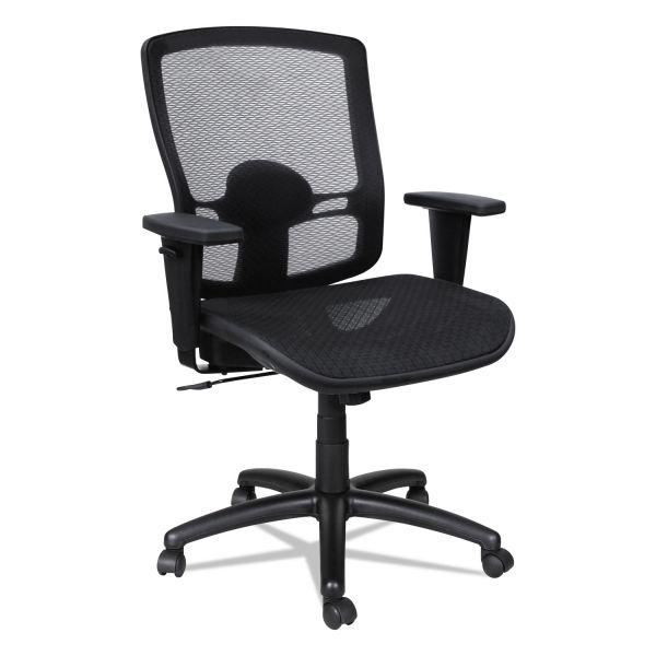 Alera Etros Series Mesh Mid-Back Synchro Tilt Chair, Mesh Back/Seat, Black