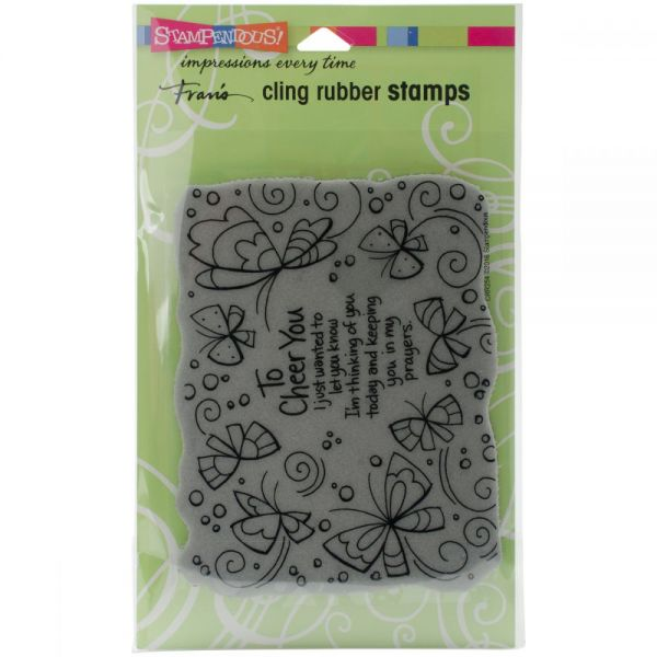 "Stampendous Fran's Cling Stamps 7.75""X4.5"""