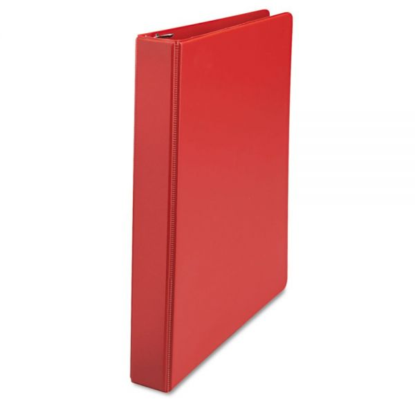 "Universal D-Ring Binder, 1"" Capacity, 8-1/2 x 11, Red"