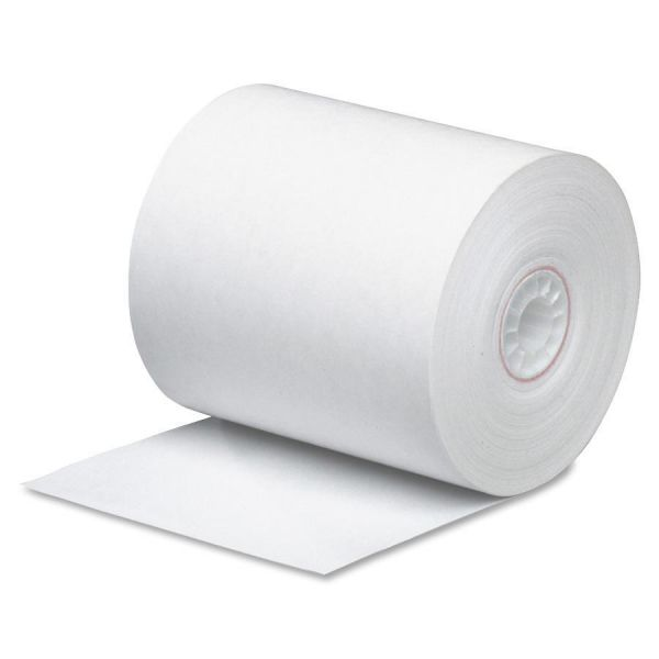 """PM Company Single Ply Thermal Cash Register/POS Rolls, 3"""" x 225 ft., White, 24/CT"""