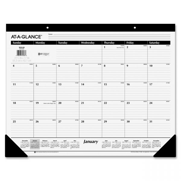 At-A-Glance Nonrefillable Monthly Desk Pad Calendar