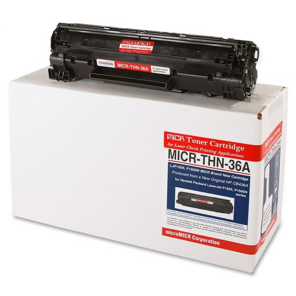 Micromicr Corporation Remanufactured HP CB436A Black Toner Cartridge