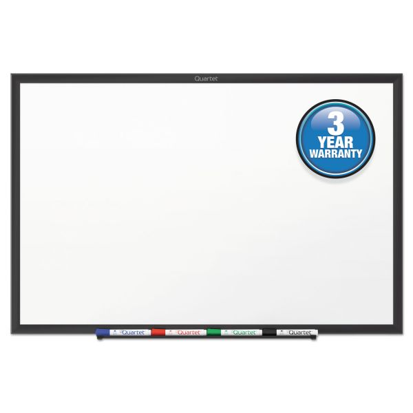 Quartet Classic Series Melamine Dry Erase Board, 60 x 36, White Surface, Black Frame