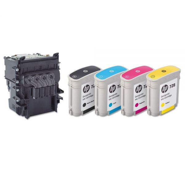 HP HP 729 (F9J81A) Printhead, Black, Cyan, Magenta, Yellow