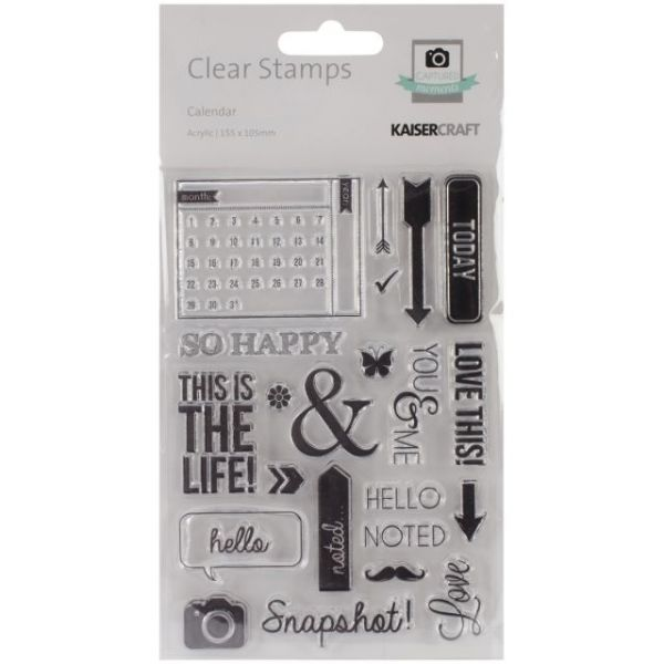 """Captured Moments Clear Stamps 6.25""""X4"""""""