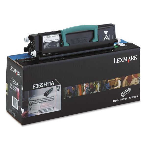 Lexmark E352H11A Black High Yield Return Program Toner Cartridge