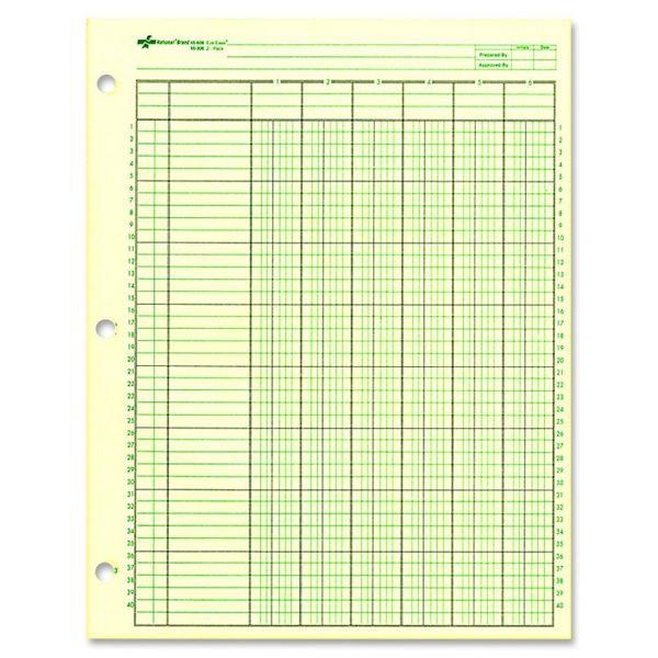 Rediform National 6 Column Ledger Sheets