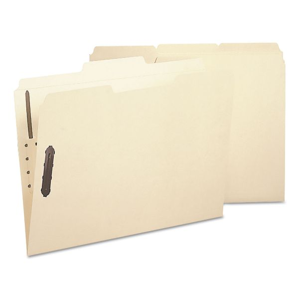 Smead Manila Poly File Folders With Fasteners