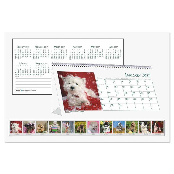 House of Doolittle Puppies Monthly Desktop Tent Calendar