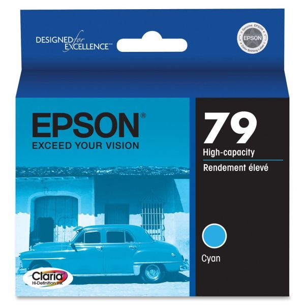 Epson 79 Cyan High-Capacity Ink Cartridge
