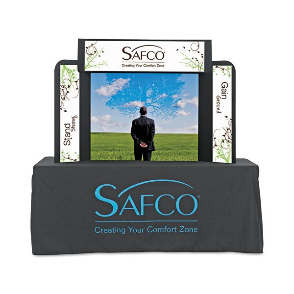 Safco Economy Tabletop Exhibit, 61 x 14 x 41, Black