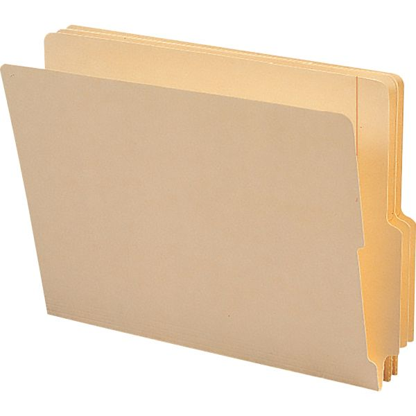 Smead Letter Size Reinforced End Tab File Folders
