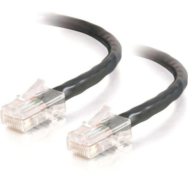 25ft Cat5e Non-Booted Crossover Unshielded (UTP) Network Patch Cable - Black