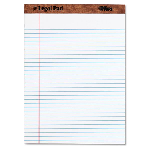TOPS Letter-Size White Legal Pad