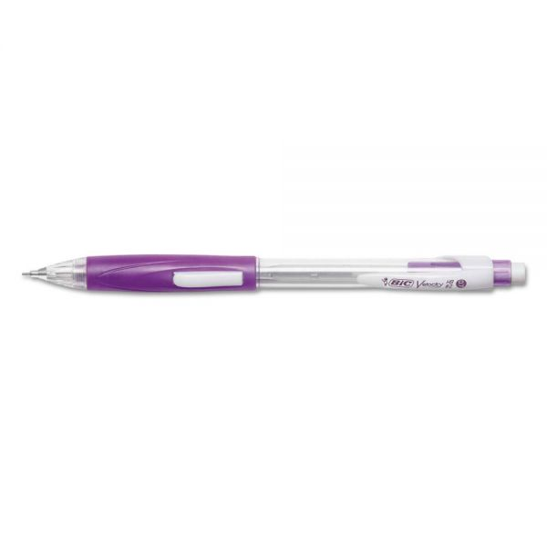 BIC Velocity Side Clic Pencil, HB #2, 0.7 mm, Assorted, Dozen
