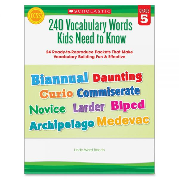 Scholastic Grade-5 240 Vocabulary Words Book Education Printed Book