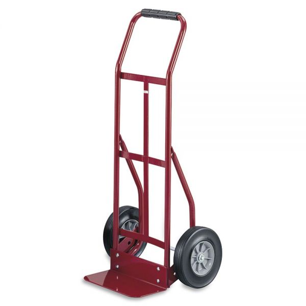 Safco Two-Wheel Continuous Steel Handle Hand Truck Cart, 300lb Capacity, 18 x 44, Red