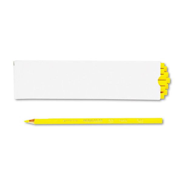 Prismacolor Premier Colored Pencil, Canary Yellow Lead/Barrel, Dozen