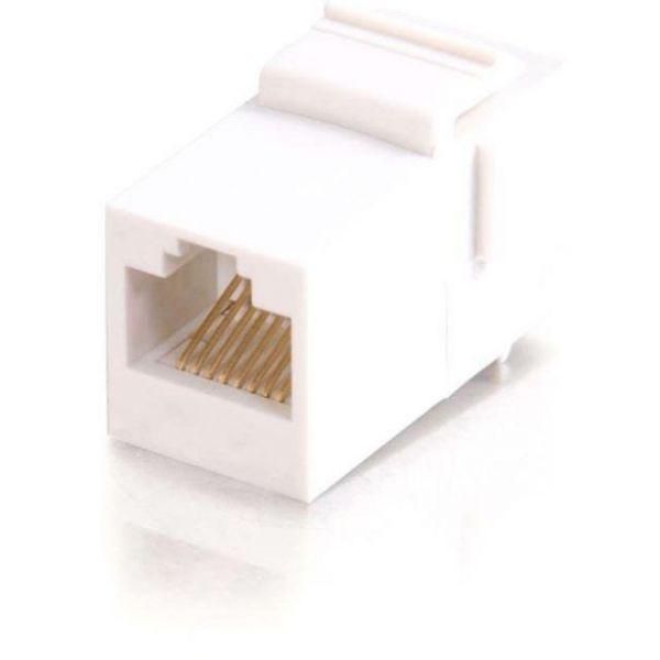 C2G RJ45 (8P8C) Coupler Keystone Insert Module - White