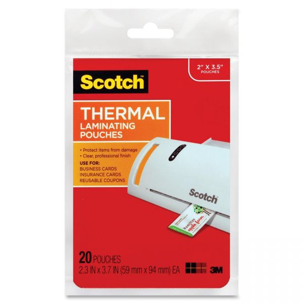 Scotch Thermal Business Card Laminating Pouches