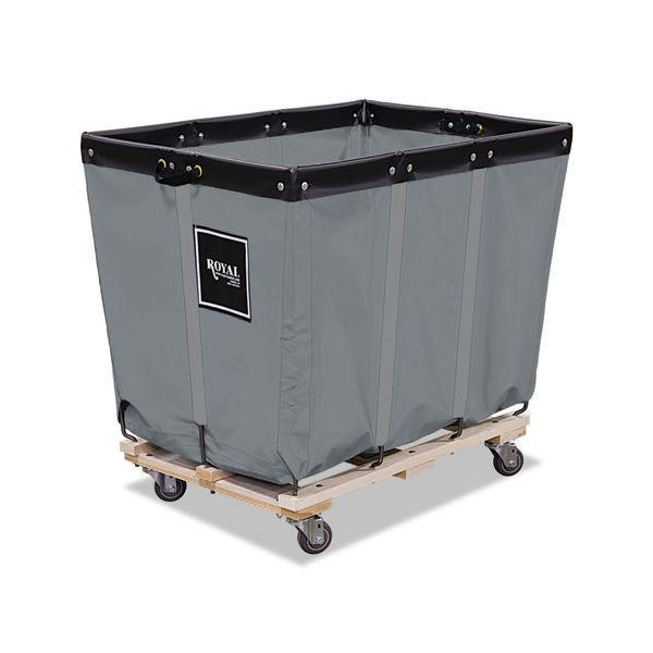 Royal Basket Trucks 12 Bushel Permanent Liner Truck, 26 x 36 x 34, 600 lbs. Capacity, Gray