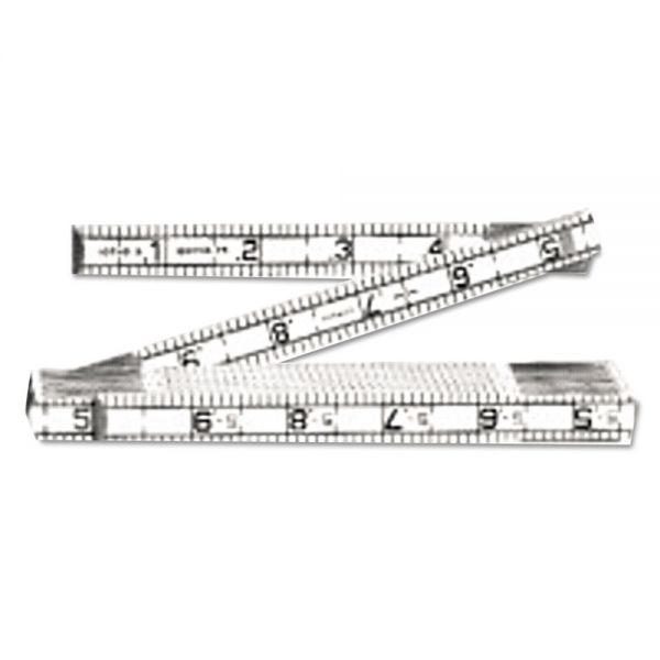 Lufkin Red End Engineer's Ruler, 6ft, Folding, Wood