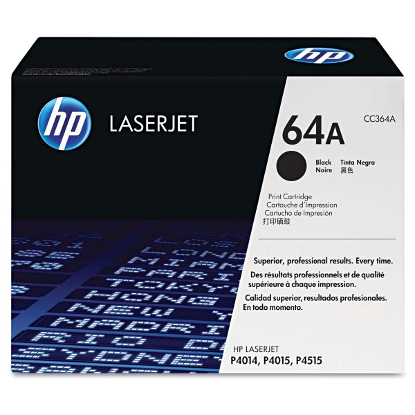 HP 64A Black Toner Cartridge (CC364AG)